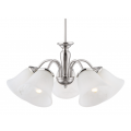 TRADITIONAL BRUSHED CHROME FIVE LIGHT PENDANT