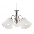 TRADITIONAL BRUSHED CHROME THREE LIGHT PENDANT