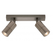 TWO LIGHT TITANIUM EXTERNAL TRACK LIGHT