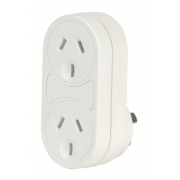 SURGE PROTECTED VERTICAL DOUBLE ADAPTOR