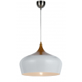 POLK PENDANT LARGE OAK & WHITE
