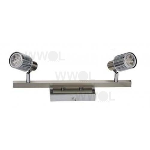 2 LIGHT BRUSHED CHROME 9 WATT LED TRACK LIGHT
