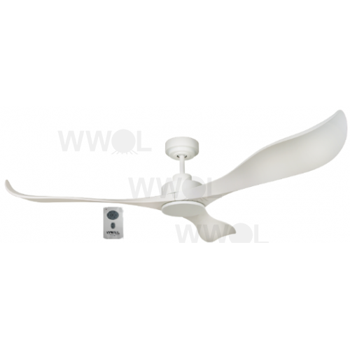 AIR EFFICIENT II WHITE DC CEILING FAN INC 6 SPEED REMOTE