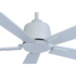 AIR ELITE DC WHITE FIVE BLADE CEILING FAN INC REMOTE