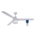 AIR BORNE 3/4 BLADE 120CM WHITE FAN LIGHT REMOTE