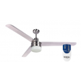 AIR BORNE 3/4 BLADE 120CM STAINLESS FAN LIGHT REMOTE