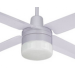 AIR BORNE 4/3 BLADE 120CM WHITE FAN LIGHT REMOTE