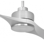 AIR EFFICIENT II TWO BLADE SILVER DC CEILING FAN INC 6 SPEED REMOTE