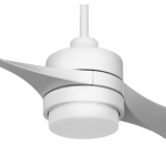 AIR EFFICIENT II TWO BLADE WHITE DC CEILING FAN LED LIGHT INC 6 SPEED REMOTE
