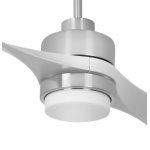 AIR EFFICIENT II TWO BLADE SILVER DC CEILING FAN LED LIGHT INC 6 SPEED REMOTE