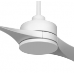 AIR EFFICIENT II TWO BLADE WHITE DC CEILING FAN INC 6 SPEED REMOTE