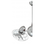 ACQUA POLISHED CHROME INCL CAGED METAL BLADES CEILING FAN AND LIGHT