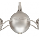 ACQUA BRUSHED NICKEL INCL HARDWOOD BLADES CEILING FAN AND LIGHT