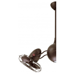 ACQUA TEXTURED BRONZE INCL CAGED METAL BLADES CEILING FAN AND LIGHT