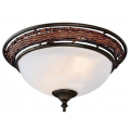 WICKER AND WEATHERED BRONZE BOWL LIGHT KIT