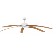 WINDPOINTE LARGE 203CM 5 BLADE WHITE-MAPLE TROPICAL CEILING FAN