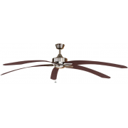 WINDPOINTE LARGE 203CM 5 BLADE PEWTER-MAHOGANY TROPICAL CEILING FAN
