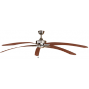WINDPOINTE LARGE 203CM 5 BLADE PEWTER-CHERRY TROPICAL CEILING FAN