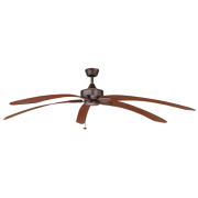 WINDPOINTE LARGE 203CM 5 BLADE RUST-CHERRY TROPICAL CEILING FAN