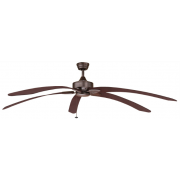 WINDPOINTE LARGE 203CM 5 BLADE RUST-MAHOGANY TROPICAL CEILING FAN
