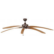 WINDPOINTE LARGE 203CM 5 BLADE RUST-MAPLE TROPICAL CEILING FAN