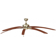 WINDPOINTE LARGE 203CM 5 BLADE ANT-BRASS-CHERRY TROPICAL CEILING FAN