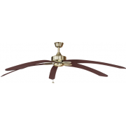 WINDPOINTE LARGE 203CM 5 BLADE ANT-BRASS-MAHOGANY TROPICAL CEILING FAN