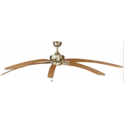 WINDPOINTE LARGE 203CM 5 BLADE ANT-BRASS-MAPLE TROPICAL CEILING FAN