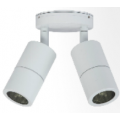 10 WATT LED TWIN ADJUSTABLE ALUMINIUM WHITE 3000K 240V EXTERIOR LIGHT