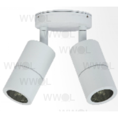 10 WATT LED TWIN ADJUSTABLE ALUMINIUM WHITE 6000K 240V EXTERIOR LIGHT