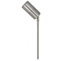 5 WATT LED SINGLE 12 VOLT ADJUSTABLE SPIKE SPOT WARM WHITE 316 STAINLESS SHORT SPIKE