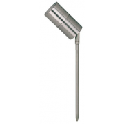 5 WATT LED SINGLE 12 VOLT ADJUSTABLE SPIKE SPOT COOL WHITE 316 STAINLESS SHORT SPIKE