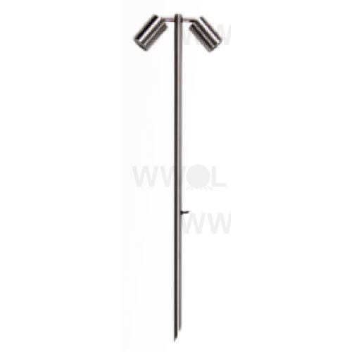 10 WATT LED TWIN 12 VOLT ADJUSTABLE SPIKE SPOT WARM WHITE 316 STAINLESS LONG SPIKE