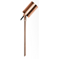 5 WATT LED SINGLE 12 VOLT ADJUSTABLE SPIKE SPOT WARM WHITE SOLID COPPER SHORT SPIKE