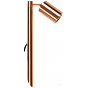 5 WATT LED SINGLE 12 VOLT ADJUSTABLE SPIKE SPOT COOL WHITE SOLID COPPER SHORT SPIKE