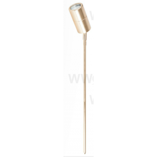 5 WATT LED SINGLE 12 VOLT ADJUSTABLE SPIKE SPOT WARM WHITE ANODIISED ALUMINIUM GOLD LONG SPIKE