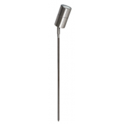 5 WATT LED SINGLE 12 VOLT ADJUSTABLE SPIKE SPOT COOL WHITE ANODISED ALUMINIUM TITANIUM LONG SPIKE