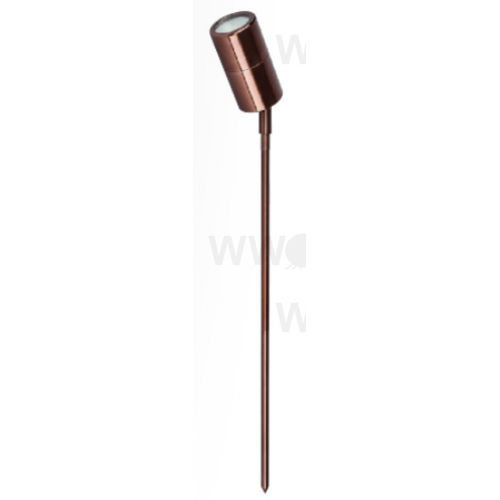 5 WATT LED SINGLE 12 VOLT ADJUSTABLE SPIKE SPOT WARM WHITE ANODISED ALUMINIUM BRONZE LONG SPIKE