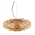 SCANDANAVIAN 1 LIGHT 600MM TIMBER PENDANT