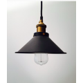 INDUSTRIAL SMALL PENDANT BRASS - BLACK