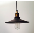 INDUSTRIAL LARGE PENDANT BRASS - BLACK