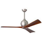 IRENE 3 DC 132CM BRUSHED NICKEL WALNUT BLADES CEILING FAN