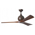 IRENE 3 DC 132CM TEXTURED BRONZE WALNUT BLADES CEILING FAN