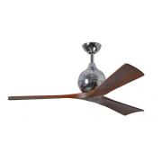 IRENE 3 DC 132CM POLISHED CHROME WALNUT BLADES CEILING FAN