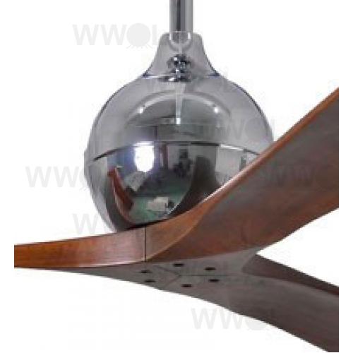 Irene 3 Dc 132cm Polished Chrome Walnut Blades Ceiling Fan