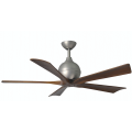 IRENE 5 DC 132CM BRUSHED NICKEL WALNUT BLADES CEILING FAN