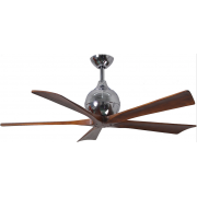 IRENE 5 DC 132CM POLISHED CHROME WALNUT BLADES CEILING FAN