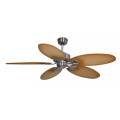 KEWARRA TROPICAL 130CM CEILING FAN BRUSHED CHROME