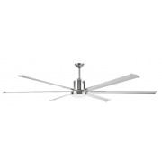 INDUSTRIAL DC 6 BLADE 84 INCH CEILING FAN AND LIGHT INCL REMOTE