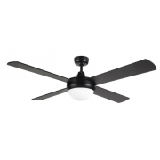 AIR FLIGHT 130CM MATT BLACK WITH 2 X B22 LIGHT CEILING FAN
